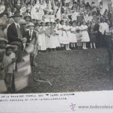 Fotografía antigua: FIESTA DE LA RAZA 1920 CARRO ALEGORICO, MEXICO, PROCLAMA SU UNION LATINO-AMERICANA. Lote 25877051