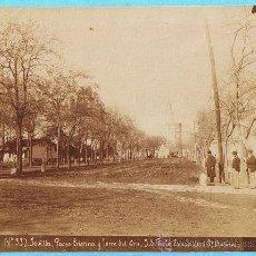 Fotografía antigua: Nº 331. SEVILLA. PASEO CRISTINA Y TORRE DEL ORO. J. E. PUIG. ESCUDILLERS 89, BARNA.. Lote 26498624