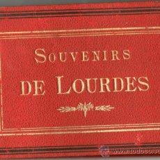 Fotografía antigua: ALBUM 12 FOTOGRAFIAS SOUVENIR DE LOURDES,. Lote 26815760