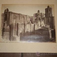 Fotografía antigua: FOTOGRAFIA, ALBUMINA, TARRAGONA 1235.VISTA GENERAL DE LA CATEDRAL. J. LAURENT. MADRID.. Lote 26901414