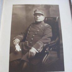 Fotografía antigua: FOTO DEL GRAL. GUZMAN DE URUGUAY DEDICADA AL 2º JEFE DEL JUAN SEBASTIAN ELCANO. MONTEVIDEO, 1928. Lote 27232027