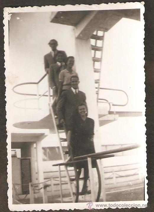 Valencia escalera trampolin de la piscina las comprar fotograf a antigua alb mina en - Escalera piscina segunda mano ...