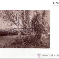 Fotografía antigua: FOT. ANTIGUA -. EL PRAT.PONT F.F.C.C. M.Z.A. - APROX.MED. 9 X 16 - (F-150). Lote 27966771