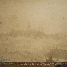 Fotografía antigua: CA. 1880. SEVILLA. LA CATEDRAL TOMADA DE LA TORRE DEL ORO. J.E. PUIG FOTOGRAFO. Lote 28565636