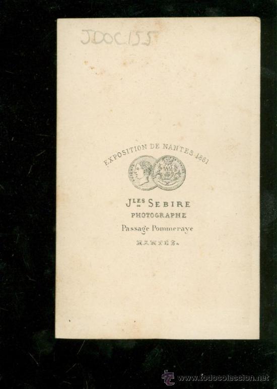 FOTOGRAFIA ANTIGUA DE JLES. SEBIRE. EXPOSITION DE NANTES 1861. (Fotografía Antigua - Albúmina)