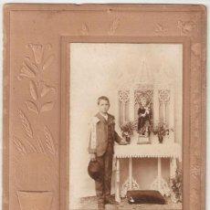 Fotografía antigua: PRIMERA COMUNION AÑO 1905. Lote 28820496