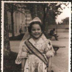 Fotografía antigua: VALENCIA. FALLERA DE HONOR INFANTIL AÑOS 60. FOTO A. CALVO.. Lote 28821353