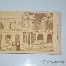 Fotografía antigua: FOTOGRAFIA ORIGINAL RUINES DE PARIS DE J.R. PHOT. FRANCIA 1871 . Lote 29292351