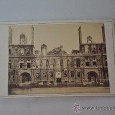 Fotografía antigua: FOTOGRAFIA ORIGINAL RUINES DE PARIS FRANCIA 1871 HOTEL DE VILLE . Lote 29292811