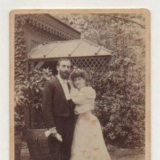 Fotografía antigua: RETRATO PAREJA. (FOTÓGRAFO J. YVON & FILS. VINCENNES, PARIS.). Lote 29344884