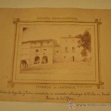 Fotografía antigua: MAGNIFICA FOTOGRAFÍA - SANTILLANA (SANTANDER) - CASA DE AGUILA Y TORRE - FOTO PICA-GROOM. Lote 29370330