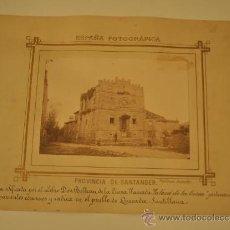 Fotografía antigua: MAGNIFICA FOTOGRAFIA - QUEVEDA - SANTILLANA (SANTANDER) - CASA PALACIO DE LA CUEVA - PICA-GROOM. Lote 29371022