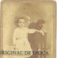 Fotografía antigua: (XJ-158)FOTOGRAFIA ALBUMINA SIGLO XIX REALIZADA POR RAMON ROZADA(VALLS) DE SU SOBRINA CLOTILDE. Lote 29371167