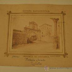 Fotografía antigua: MAGNIFICA FOTOGRAFIA - ALCEDA (SANTANDER - CANTABRIA) - PORTADA Y TORRE DE ZEVALLOS - PICA-GROOM. Lote 29371197