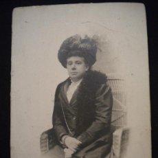 Fotografía antigua: FOTOGRAFIA ANTIGUA DE BELLA MUJER MEDALLA DE ORO EN 1888 BARCELONA.. Lote 29675977