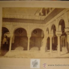 Fotografía antigua: LAURENT, SEVILLA, ALCAZAR, PATIO DE LA CASA DE PILATOS, RINCÓN Y ESTATUA DE CERES, 25X34CM. Lote 29678255