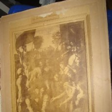 Fotografía antigua: LAURENT, MUSEO DEL PRADO, EL PASMO DE SICILIA, 36X26CM. Lote 29678269