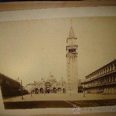 Fotografía antigua: VENECIA, LA BASÍLICA DE SAN MARCOS, NAYA, 26X36. Lote 29678306