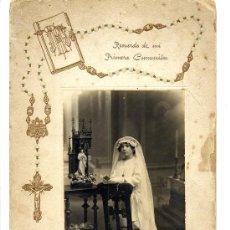 Fotografía antigua: FOTO TORRES - REUS TARRAGONA PRIMERA COMUNION TAMAÑO GRANDE EN RELIEVE. Lote 29683988