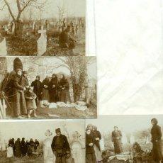 Fotografía antigua: CEMENTERIO ¿SERBIO?. HACIA 1900. LOTE DE 4 FOTOS.. Lote 29809020