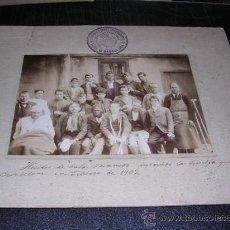 Fotografía antigua: MEDICINA , BARCELONA,HERIDOS DE BALA DE MAUSER DURANTE LA HUELGA GENERAL DE BARCELONA FEBRERO 1902,. Lote 29826570