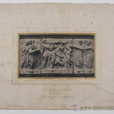 Fotografía antigua: PAPEL SALADO. BAS-RELIEF EN MARBRE (DELLA ROBBIA) CALOTIPO EDITADO POR BLANQUART-EVRARD, AÑO 1850-51. Lote 29849146