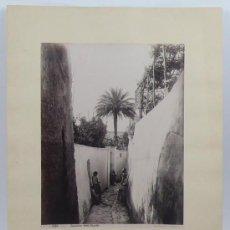 Fotografía antigua: ISLA DE CAPRI, ITALIA. 1890'S. FOTO: GIORGIO SOMMER. ALBÚMINA SOBRE CARTULINA.. Lote 29975990