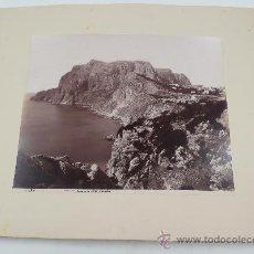 Fotografía antigua: CAPRI. PUNTA TRAGARA, 1880'S. FOTO: GIORGIO SOMMER. ALBÚMINA 21X25 CM. SOPORTE : 30X36 CM.. Lote 30087501