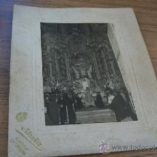 Fotografía antigua: ANTIGUA FOTO-S/F (17.5 X 12 CM.) MONTADA EN BASE DE CARTÓN(25 X 20.5 CM.) FOT: ALCAÑIZ-LA CAROLINA. Lote 30698667