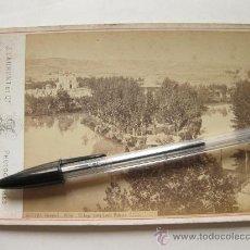 Fotografía antigua: FOTOGRAFIA 1654 DE J. LAURENT - ALHAMA DE ARAGON - EL LAGO VISTO DESDE EL PALACIO. Lote 30681477
