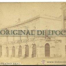 Fotografía antigua - (F-67)FOTOGRAFIA ALBUMINA SIGLO XIX TEATRO REAL DE MADRID (13 X 8,50 CM.) - 30614233
