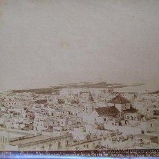 Fotografía antigua: CADIZ FOTOGRAFIA ALBUMINA VISTA GENERAL TOMADA DESDE LA TORRE DE TAVIRA 1900. Lote 30676119