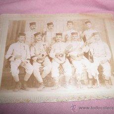 Fotografía antigua: ANTIGUA FOTOGRAFIA MILITARES ESPAÑOLES - SIGLO XIX .. Lote 30737945