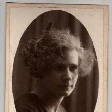 Fotografía antigua: FOTO DE DOLORS ENRRICH SABADELL 1922 DEDICADA A CIPRIÁ CABANÉ. Lote 30749065