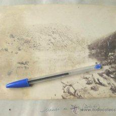 Fotografía antigua: 2 FOTOGRAFIAS DE FINALES DEL S XIX - MESAS DE IBOR - CACERES - TOLEDO. Lote 31457487