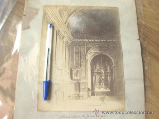Fotografía antigua: 7 FOTOGRAFIAS DE FINALES DEL S XIX - MONASTERIO DE GUADALUPE - CACERES - Foto 3 - 31457565