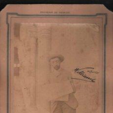 Fotografía antigua: FOTOGRAFÍA ALBÚMINA SOBRE CARTÓN DE RAFAEL DE LA VIESCA, GARZON, ALHAMBRA, GRANADA, 10 JUNIO 1898. Lote 31065634