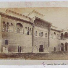 Fotografía antigua: SEVILLA, 1379. FACHADA DEL ALCÁZAR, FOTO: LAURENT, MADRID 25X34 CM.. Lote 31155939