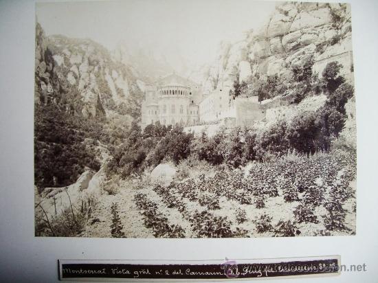 1888-MONASTERIO DE MONTSERRAT.BARCELONA.JOSÉ LUIS PUIG. FOTO ORIGINAL. (Fotografía Antigua - Albúmina)