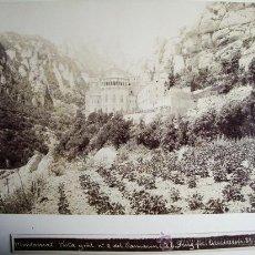 Fotografía antigua: 1888-MONASTERIO DE MONTSERRAT.BARCELONA.JOSÉ LUIS PUIG. FOTO ORIGINAL.. Lote 31243603