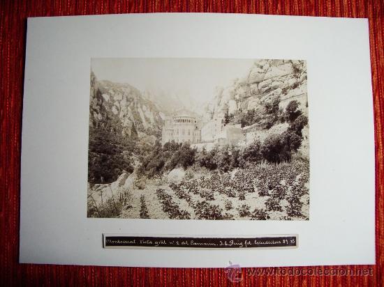 Fotografía antigua: 1888-MONASTERIO DE MONTSERRAT.BARCELONA.JOSÉ LUIS PUIG. FOTO ORIGINAL. - Foto 2 - 31243603