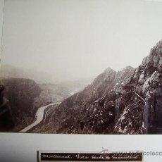 Fotografía antigua: 1888-VISTA DESDE EL MONASTERIO DE MONTSERRAT.BARCELONA.JOSÉ LUIS PUIG. FOTO ORIGINAL.ALBÚMINA. Lote 31282827