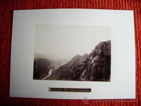 Fotografía antigua: 1888-VISTA DESDE EL MONASTERIO DE MONTSERRAT.BARCELONA.JOSÉ LUIS PUIG. FOTO ORIGINAL.ALBÚMINA - Foto 2 - 31282827