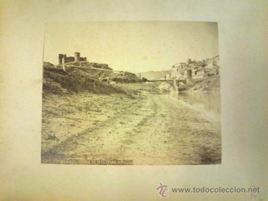 FOTOGRAFIA ALBUMINA. ALGUACIL FOTOGRAFO. PUENTE DE ALCANTARA. TOLEDO. MONTADA EN CARTON. (Fotografía Antigua - Albúmina)