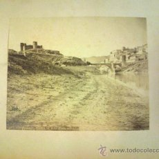 Fotografía antigua: FOTOGRAFIA ALBUMINA. ALGUACIL FOTOGRAFO. PUENTE DE ALCANTARA. TOLEDO. MONTADA EN CARTON.. Lote 31388248