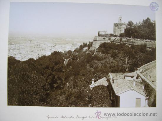 Fotografía antigua: TRASMIERA FOTO ANTIGUA,ALBÚMINA,GRANADA ALHAMBRA,FINALES SIGLO XIX - Foto 4 - 31653237