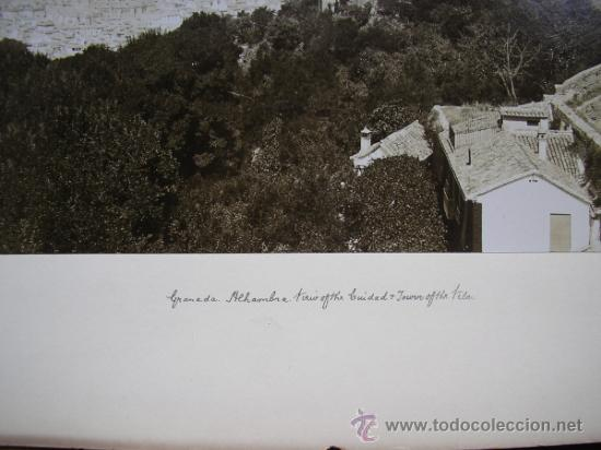 Fotografía antigua: TRASMIERA FOTO ANTIGUA,ALBÚMINA,GRANADA ALHAMBRA,FINALES SIGLO XIX - Foto 6 - 31653237