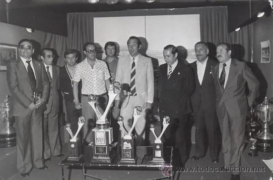 FOTOGRAFIA MAGAR PRESENTACION 1978 CIUDAD DE VIGO FUTBOL - CELTA - ARBONES - QUINOCHO - PICHER (Fotografía Antigua - Albúmina)