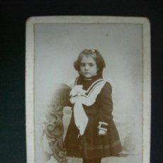 Fotografía antigua: ANTIGUA FOTOGRAFIA TARJETA VISITA DE PP DEL XX - J. A. SANCHEZ - FOTOGRAFO. Lote 31799080