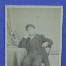 Fotografía antigua: FOTOGRAFÍA DE UN HOMBRE JOVEN. SIN FOTÓGRAFO.10,5 X 6 CM. Lote 31864917